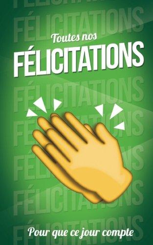 Toutes nos FELICITATIONS - Vert - Carte livre d'or: Taille M (12,7x20cm)