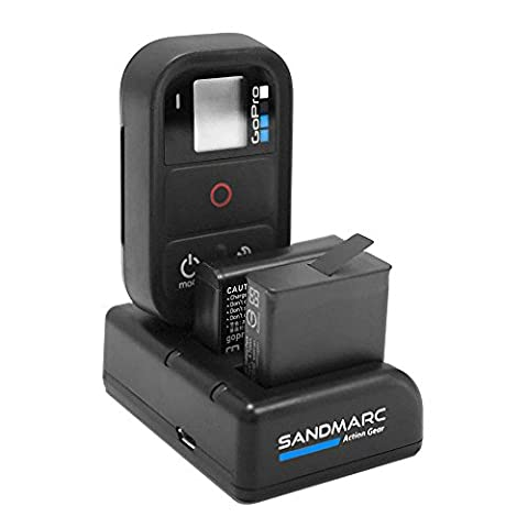 Chargeur Batterie Gopro Hero 4 - SANDMARC Procharge : Triple Chargeur pour GoPro