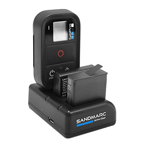 SANDMARC Procharge: Triple Chargeur pour GoPro Hero 6 / 5 / 4 / Remote