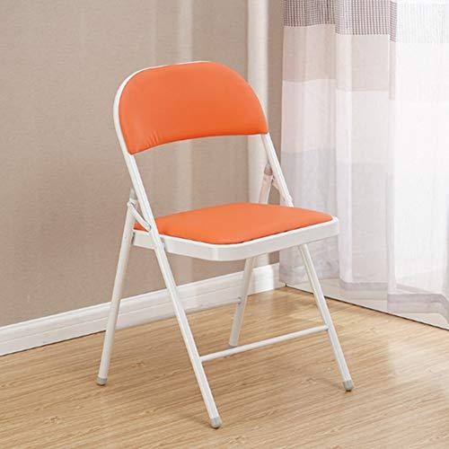 RRight! Gemütlich Klappstuhl mit gepolstertem gepolstertem Sitz und Rückenlehne, Metallrahmen Home Office Partyeinsatz,D