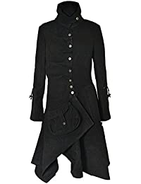 NEW Womens Military Style Fitted Jackets Trench Coat