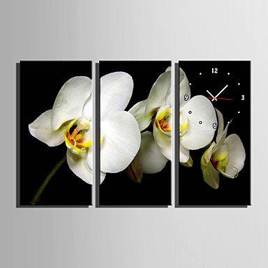 Y & M floral moderne/contemporain Horloge murale rectangulaire toile 30 x 60 cm (12inchx24inch) x3pcs/40 x 80 cm (16inchx32inch) x3pcsal 16\