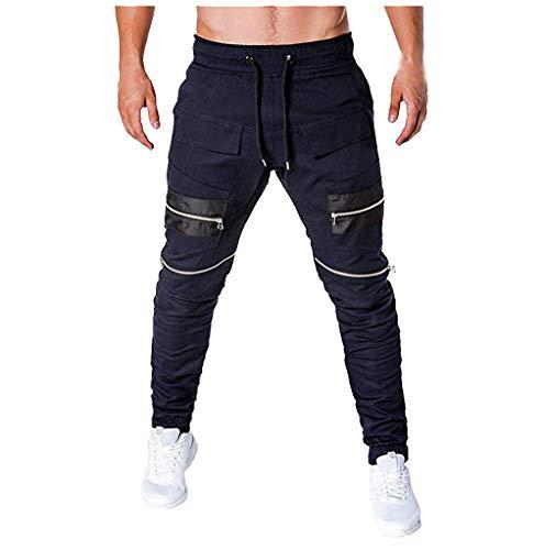 ginli pantaloni uomo lunghi cargo con coulisse tasche laterali trousers della di sport pants elastici casual maschi