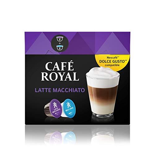 Café Royal Latte Macchiato 48 Nescafé Dolce Gusto kompatible Kapseln, 3er Pack (3 x 16 Kaffeekapseln)