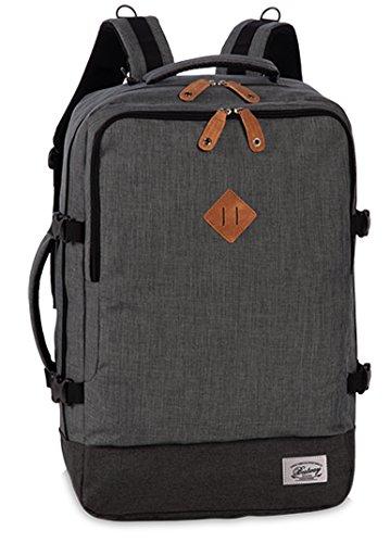 Reiserucksack Cabin Size Bordgepäck Reisetasche gepolstertes Laptop Fach Rucksack Melange Grau