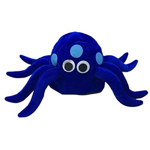 Amosfun Lustige Hut Plüsch Octopus Hut Tintenfisch Hut Octopus Kostüm Zubehör Fotorequisiten Party Hut Größe M 56-58cm (Blau) (Blaue Tintenfisch Kostüm)