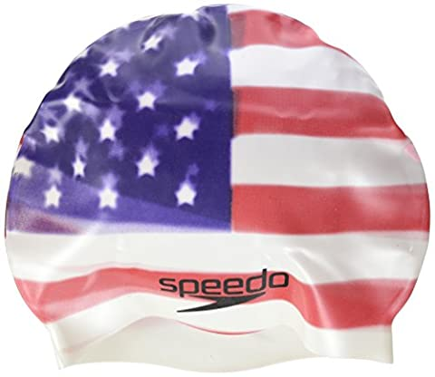 Speedo Silicone Swimming Cap – USA – Unisex Adult – One Size