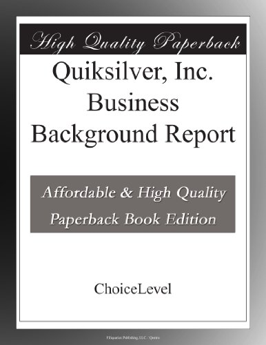 quiksilver-inc-business-background-report