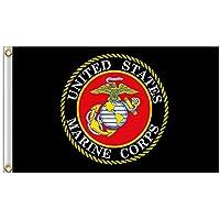 AzuNaisi Praktische US Marine Corps Flag Durable USMC Pole Flagge Tragbare Metall Grommet Flagge für Festival Veranstaltungen |3 * 5FT Home dekor