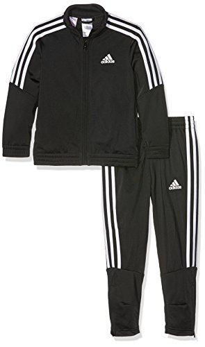 adidas Jungen Tiro Trainingsanzug, schwarz (Top:Black/White Bottom:Black/White), 152