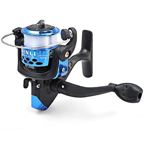 Hemore jl200galvanotecnica mulinello da pesca spinning pieghevole braccio 3-ball cuscinetto 5.2/1con filo trasparente pesca