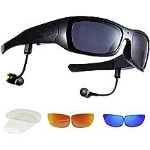 dccn Camera Lunettes vidéo HD 720p Enregistreur vidéo Glasses with 8GB SD Card Clear Plano Glasses