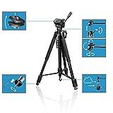 Hama Fotostativ Action 165 3D (Höhe 61–165 cm, 3-Wege Kugelkopf, - 2