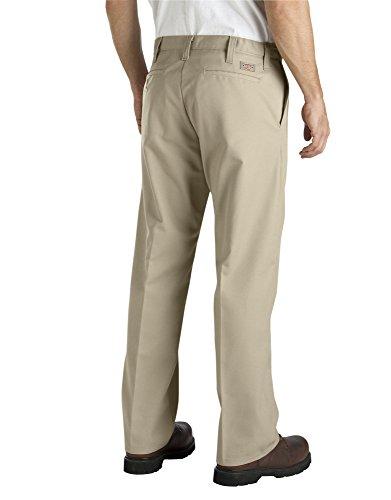 Dickies - - LP817 industrielle hommes Pantalon plat de taille avant Confort Desert Sand