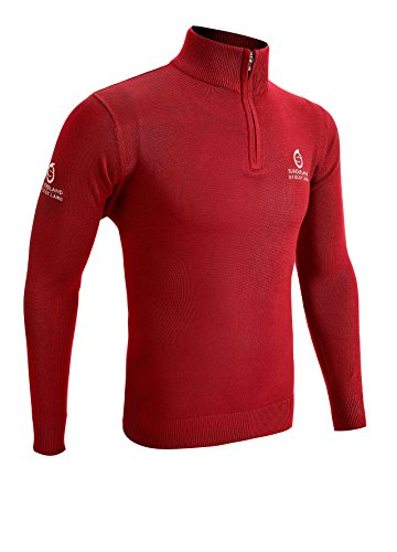 Sunderland 1/4 Zip Golf Sweater True Red Medium