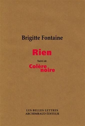 Rien suivi de colère noire par Brigitte Fontaine