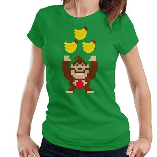 Donkey Kong Tribananas Women's T-Shirt Kelly Green