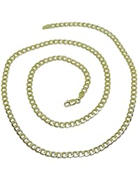 1a9a78c62651 Cadena de Oro Amarillo de 18k para Hombre Tipo barbada Plana de 4.5mm de  Ancha