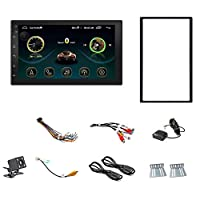 Shumo Double Din Android 8.1 Universal Car Multimedia MP5 Player GPS Navigation 7 HD Press Screen 2 Din Built in WiFi Car Stereo Radio Support Backup Camera/Mirror Link