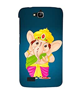 Lord Ganesha 3D Hard Polycarbonate Designer Back Case Cover for Huawei Honor Holly :: Honor Holly