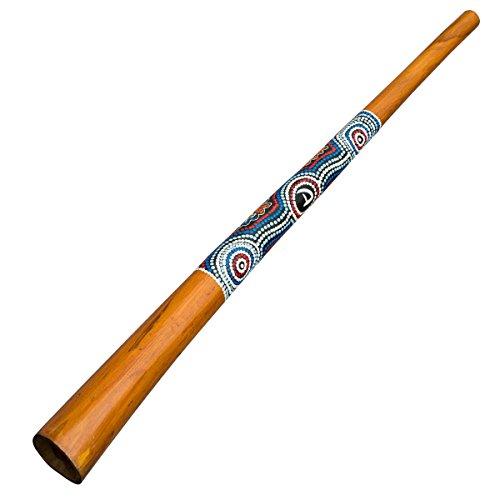 Australian Treasures - DIDGERIDOO NATURAL PAINT: Didgeridoo mit dotpainting bemalt