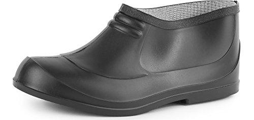 Ladeheid Botas de Caucho Goma Zapatos de Seguridad Unisex Adulto PA701P (Negro, EU 40)