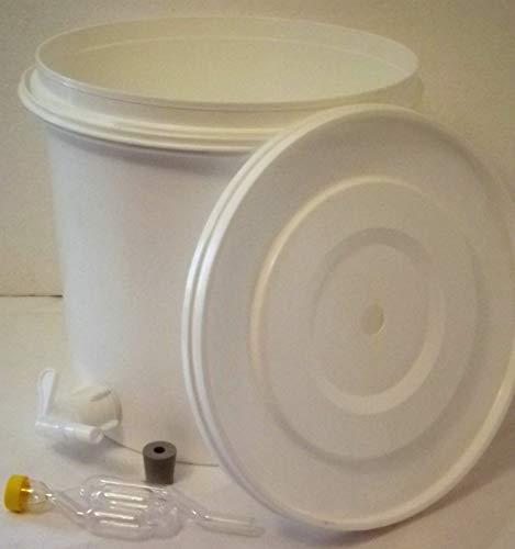gaerbehaelter bier Nahrungsmittel-selbermachen 12 Liter Gärbehälter für Wein, Bier, Maische, mit Ablaufhahn und Gäraufsatz