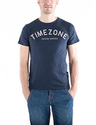 Timezone Herren Letters T-Shirt Blau (Total 3393)