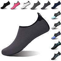 L-RUN Womens Water Sports Shoes Aqua Socks for Swim Grey M(W:6.5-7.5)=EU37-38