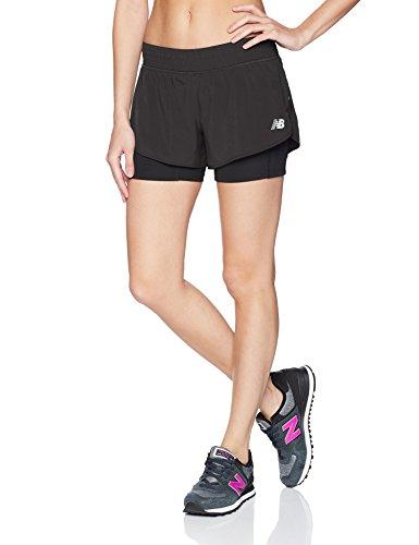 New Balance Damen Impact 4 inch Running Short, Schwarz, XL (Running Amazon Shorts)
