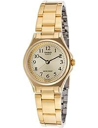 Casio LTP-1130N-9B - Reloj analógico de cuarzo para mujer, correa de acero inoxidable color dorado
