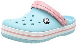 Crocs Crocband Clog Kids, Unisex-Kinder Clogs, Blau (Ice Blue/white), 22/23