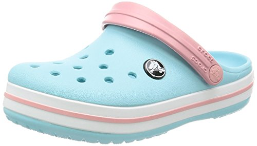 Crocs Crocband Clog Kids, Unisex-Kinder Clogs, Blau (Ice Blue/white), 34/35 - 8 Temperatur-einstellungen
