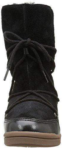 Buffalo 3001 170 HAIRY SUEDE PU Damen Warm gefütterte Schneestiefel Schwarz (Black 01)