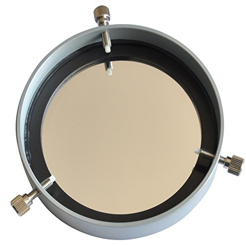 """gosky 100mm Eclipse Solar Filter für Teleskop Spektiv Fernglas DSLR Kamera Aluminium Rahmen/Baader Sicherheit Solar Film Sun Filter-Für Optik vorderen Ende Durchmesser 66bis 95mm (6,6cm -3.70"""")"""
