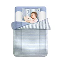 Tebery Toddler Bed Rail Bumpers Safety Sleep Side Rail with Waterproof Cover Pillow Pad for Kids Size: 132x17.8x11.4 cm