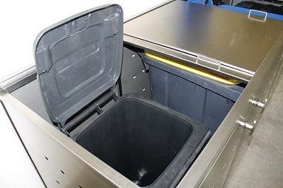 Resorti Mülltonnenbox Basic Edelstahl Kombi 4er 120 / 240 Liter - 5