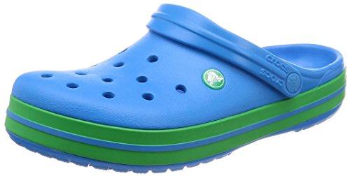 crocs Unisex-Erwachsene Crocband U' Clogs, Blau (Ocean/Grass Green 4bp), 38/39 EU Ocean Green