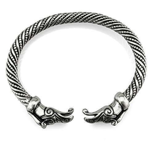 URBANTIMBER Wikinger Armreif Hugin & Munin - Silber oder Bronze/Gold - Bronze 8 Arm
