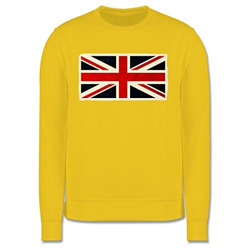 Länder - Flagge Großbritannien - Herren Premium Pullover Gelb