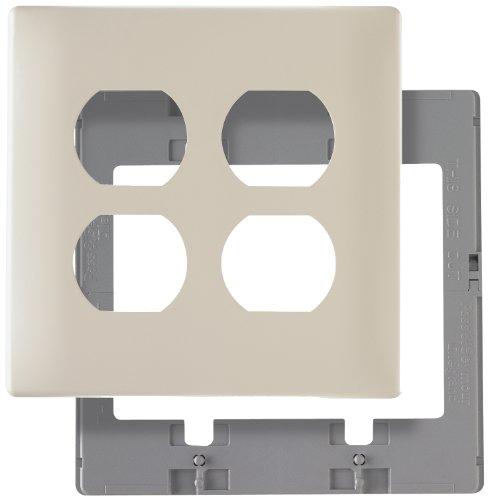Legrand-Pass & Seymour SWP82LACC10 Screw Less Wall Plate Plastic Sub Plate Two Gang Light, Almond by Legrand-Pass & - Almond Light Wall Plate
