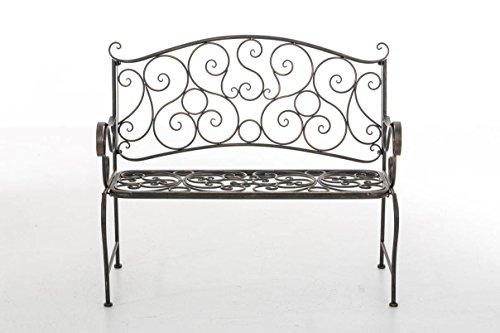 CLP Metall Gartenbank TUAN, 2-er Sitz-Bank Garten, Eisen lackiert, Design nostalgisch antik, 105 x 50 cm Bronze - 2