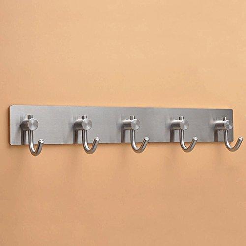 Preisvergleich Produktbild ZLR Strong Power Küche Kleiderhaken Haken 304 Edelstahl Badezimmer Haken Starke Wand Balkon Haken ( größe : 310*45mm(414G) )