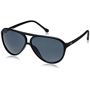 Fastrack UV Protected Aviator Sunglasses (P297BK1/64/Grey)(P297BK1)
