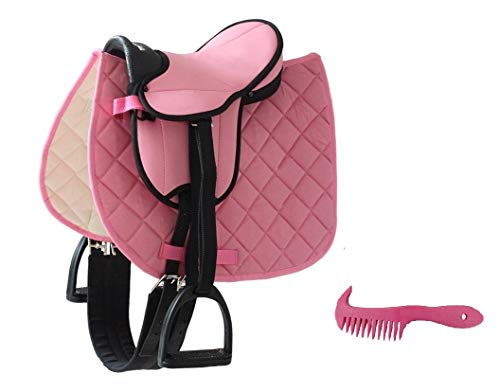 Markgraf Set German Riding Shettysattel My Little Pony mit Zubehör + Haas Mähnenkamm (Pink) -