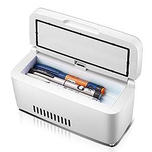 Unbekannt Insulin-Kühlbox Tragbare Mini Kühlschrank Auto Kühlschrank Smart Medizin Kühlschrank Insulin-Kühler und Insulin-Box 2-18 ° C (23.5X9.5X10Cm (9.25X3.74X3.94Inch)
