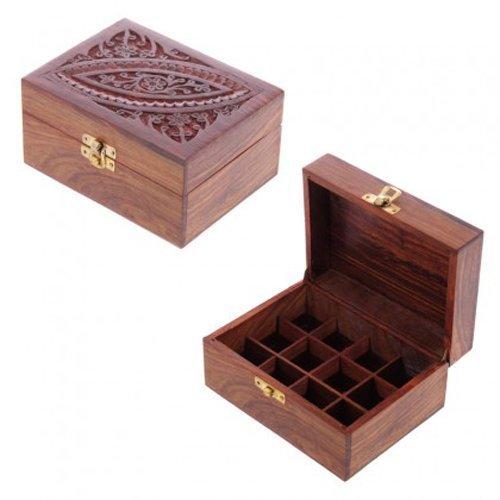 Aromathèque- Coffret en bois de Rose des Indes pour 12 huiles essentielles