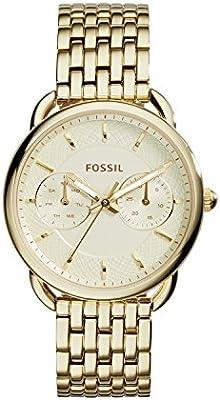 Fossil ES3714 - Reloj de cuarzo con la banda de metal para mujer, color dorado