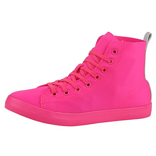 napoli-fashion - Pantofole a Stivaletto Donna Neonpink Basic