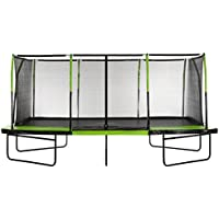 "Upper Bounce Easy Assemble ""Spacious"" Rectangular Trampoline with Fiber Flex Enclosure Feature"